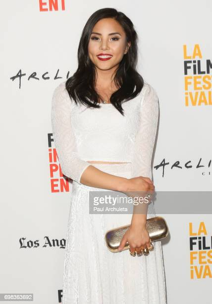 Actress Anna Akana attends the premiere of Netflix's 'You Get Me' at the 2017 Los Angeles Film Festival at the ArcLight Santa Monica on June 19 2017...