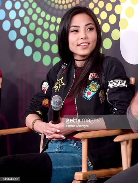 Actress Anna Akana speaks onstage at Entertainment Weekly's PopFest at The Reef on October 29 2016 in Los Angeles California