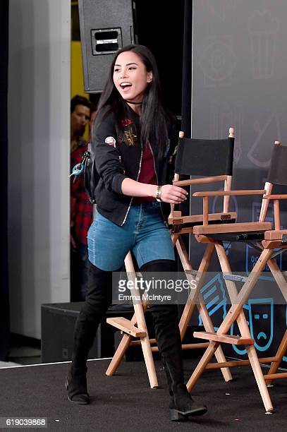 Actress Anna Akana walks onstage at Entertainment Weekly's PopFest at The Reef on October 29 2016 in Los Angeles California
