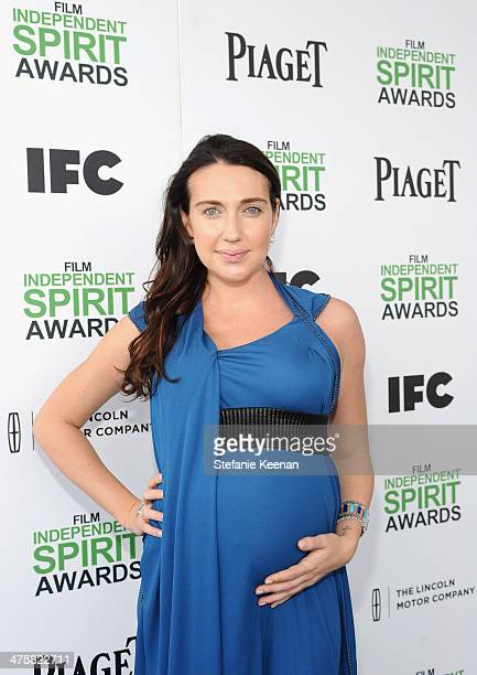Actress Anna Anissimova wearing Piaget attends the 2014 Film Independent Spirit Awards at Santa Monica Beach on March 1 2014 in Santa Monica...