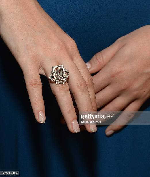 Actress Anna Anissimova wearing Piaget poses in the Piaget Lounge during the 2014 Film Independent Spirit Awards at Santa Monica Beach on March 1...