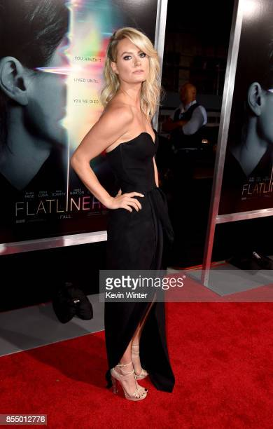 Actress Anna Arden arrives at the premiere of Columbia Pictures' 'Flatliners' at the Ace Theatre on September 27 2017 in Los Angeles California