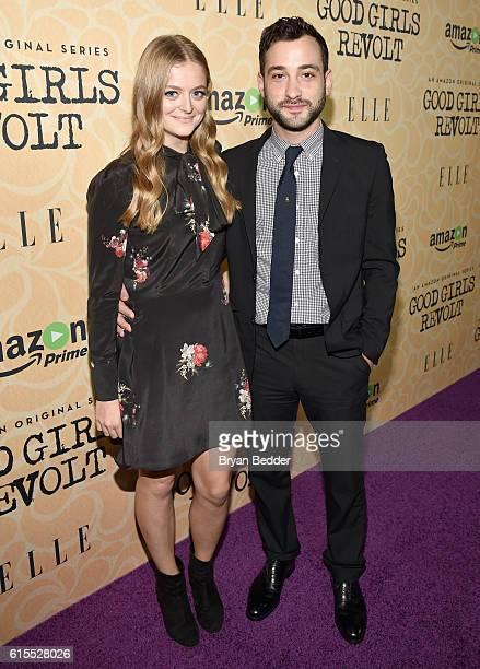 Actress Anna Baryshnikov and actor Teddy Bergman attend the Amazon red carpet premiere screening of the original drama series Good Girls Revolt at...