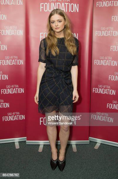 Actress Anna Baryshnikov attends SAGAFTRA Foundation's Conversations with Superior Donuts at SAGAFTRA Foundation Screening Room on March 16 2017 in...