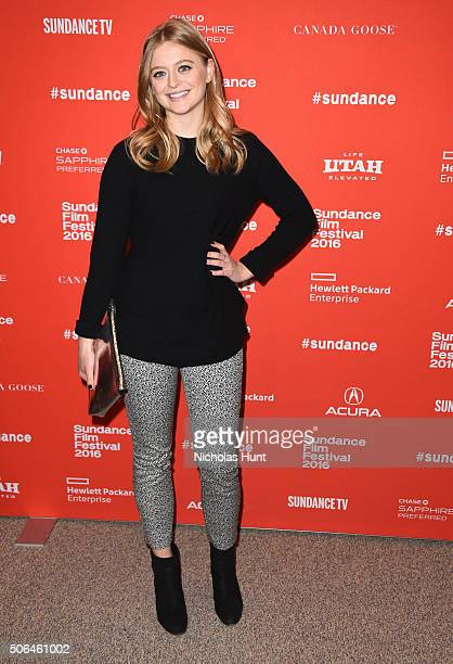 Actress Anna Baryshnikov attends the Manchester By The Sea Premiere during the 2016 Sundance Film Festival at Eccles Center Theatre on January 23...