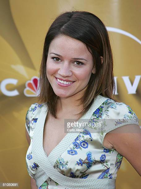 Actress Anna Belknap arrives for the NBC TCA All Star Party at Univeral Studios July 11 2004 in Los Angeles California