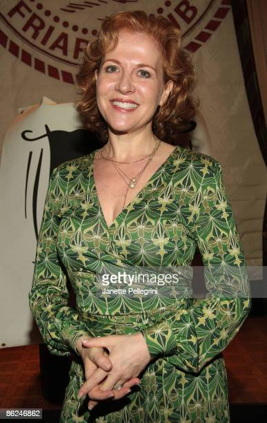 Actress Anna Bergman attends the 54th annual Drama Desk Awards nominations announcement ceremony at New York Friars Club on April 27 2009 in New York...