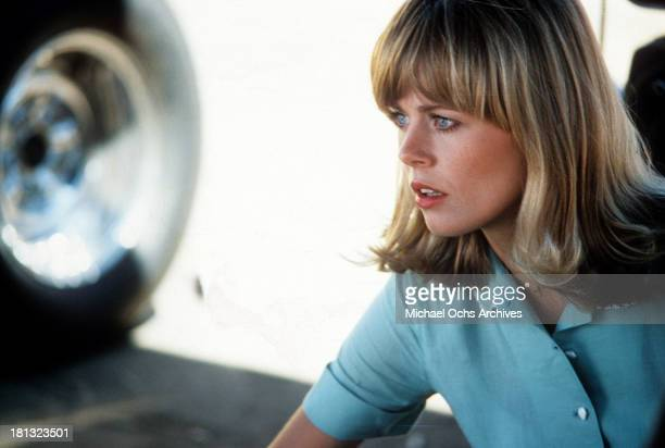 Actress Anna Bjorn on the set of Universal Studios movie More American Graffiti in 1979