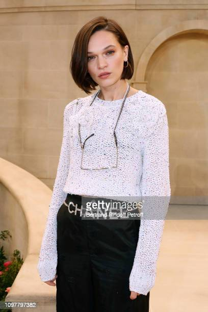 Actress Anna Brewster attends the Chanel Haute Couture Spring Summer 2019 show as part of Paris Fashion Week on January 22 2019 in Paris France