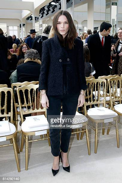 Actress Anna Brewster attends the Chanel show as part of the Paris Fashion Week Womenswear Fall/Winter 2016/2017 on March 8 2016 in Paris France