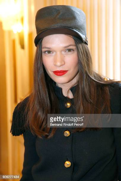 Actress Anna Brewster attends the Nina Ricci show as part of the Paris Fashion Week Womenswear Fall/Winter 2018/2019 on March 2 2018 in Paris France