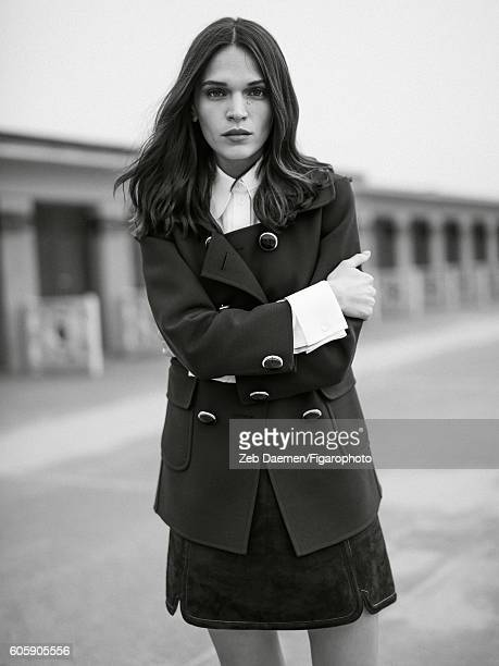 Actress Anna Brewster is photographed for Madame Figaro on June 24 2016 in Deauville France Jacket and shirt skirt PUBLISHED IMAGE CREDIT MUST READ...