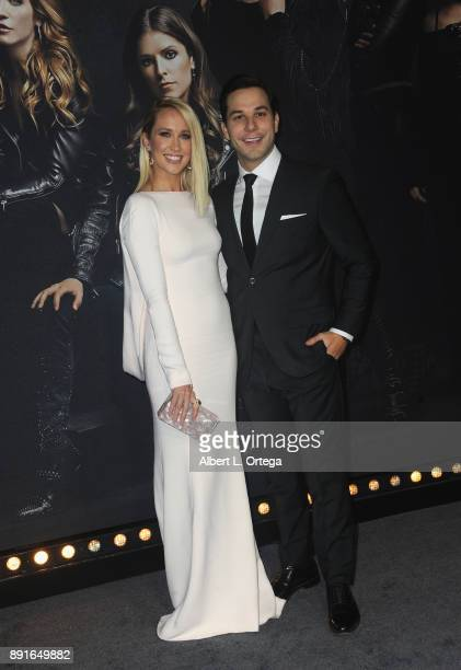 Actress Anna Camp and actor Skylar Astin arrive for the Premiere Of Universal Pictures' 'Pitch Perfect 3' held at The Dolby Theater on December 12...