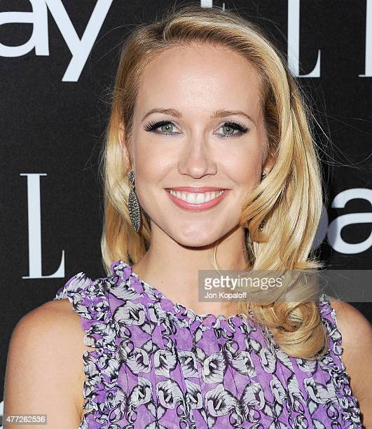 Actress Anna Camp arrives at the 6th Annual ELLE Women In Music Celebration Presented by eBay at Boulevard3 on May 20 2015 in Hollywood California