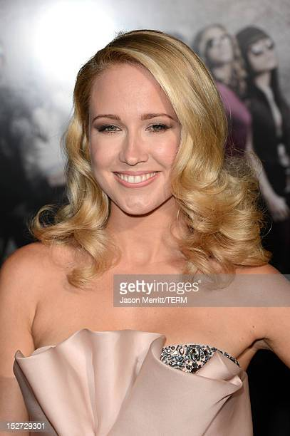 Actress Anna Camp arrives at the premiere of Universal Pictures And Gold Circle Films' Pitch Perfect at ArcLight Cinemas on September 24 2012 in...