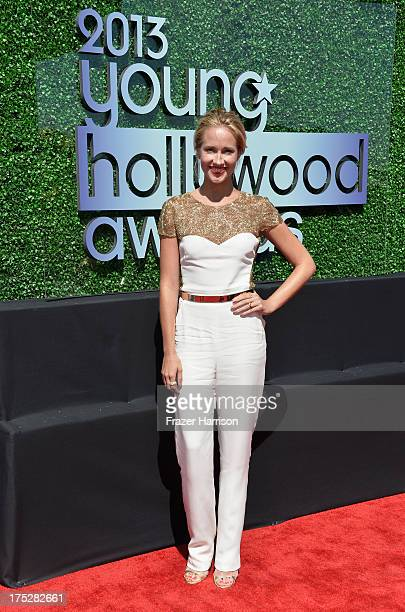 Actress Anna Camp attends CW Network's 2013 Young Hollywood Awards presented by Crest 3D White and SodaStream held at The Broad Stage on August 1...