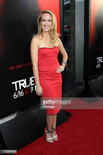"""Actress Anna Camp attends HBO's """"True Blood"""" season 6 premiere at ArcLight Cinemas Cinerama Dome on June 11, 2013 in Hollywood, California."""