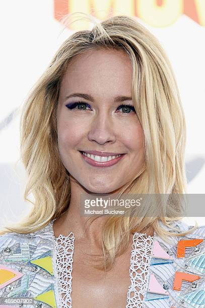 Actress Anna Camp attends The 2015 MTV Movie Awards at Nokia Theatre LA Live on April 12 2015 in Los Angeles California