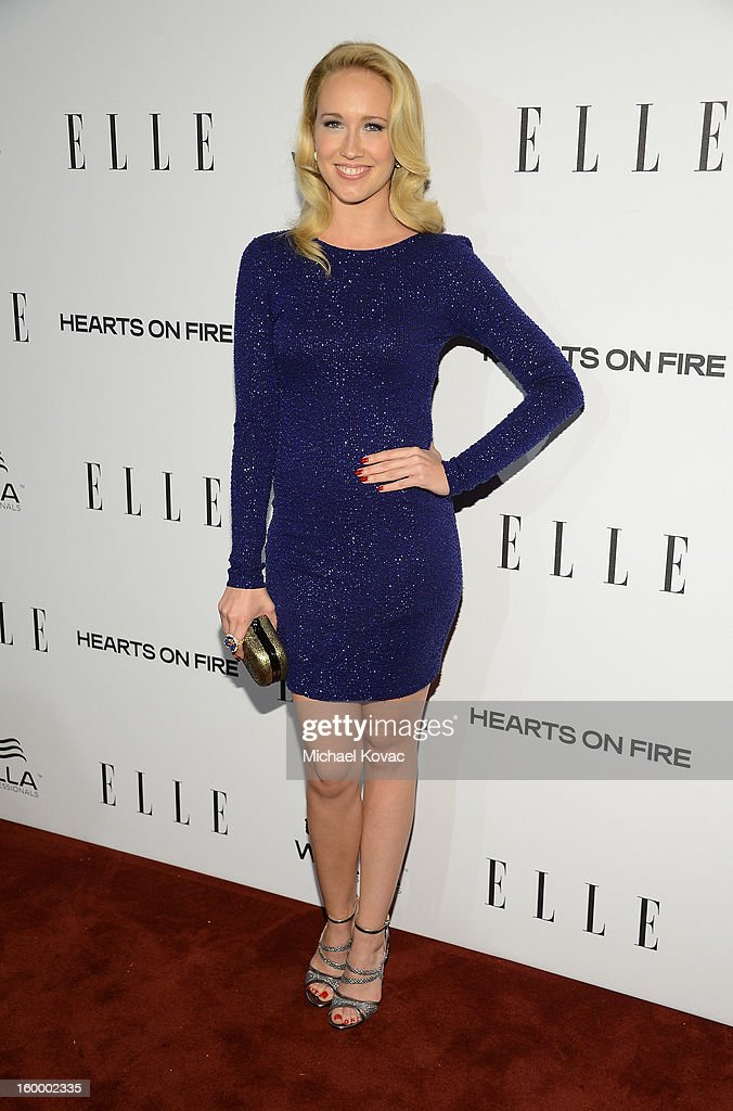 Actress Anna Camp attends the ELLE's Women in Television Celebration at Soho House on January 24, 2013 in West Hollywood, California.