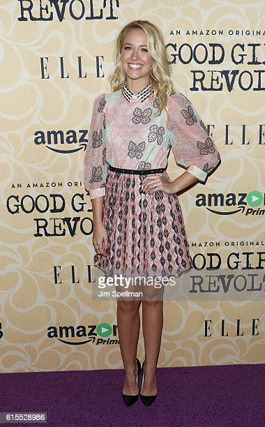 Actress Anna Camp attends the 'Good Girls Revolt' New York screening at the Joseph Urban Theater at Hearst Tower on October 18 2016 in New York City