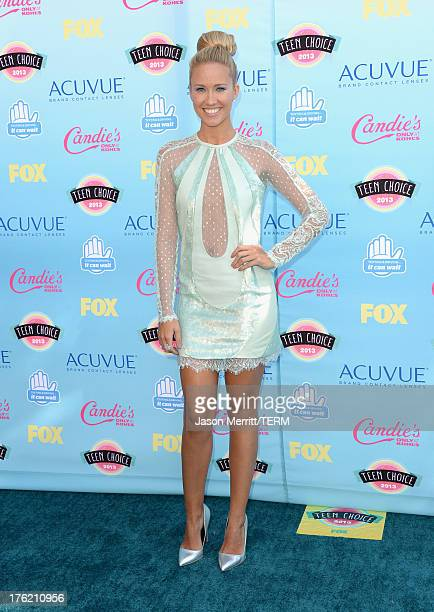 Actress Anna Camp attends the Teen Choice Awards 2013 at Gibson Amphitheatre on August 11 2013 in Universal City California
