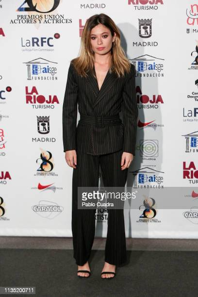 Actress Anna Castillo attends the 28th Union de Actores awards photocall at Circo Price on March 11 2019 in Madrid Spain