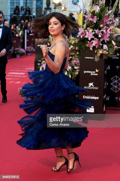 Actress Anna Castillo attends the Malaga Sur award ceremony during the 21th Malaga Film Festival at the Cervantes Theater on April 14 2018 in Malaga...