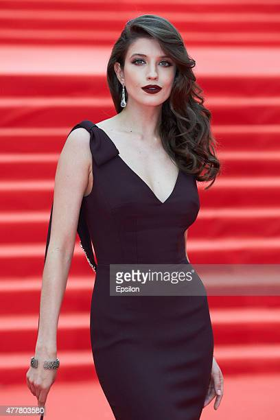 Actress Anna Chipovskaya attends the opening ceremony of the Moscow International Film Festival at Pushkinsky Cinema on June 19 2015 in Moscow Russia