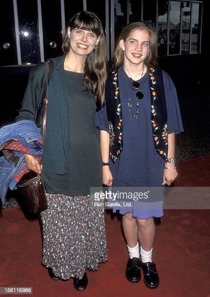 Actress Anna Chlumsky and mother Nancy Chlumsky attend the Seventh Annual Nickelodeon's Kids' Choice Awards on May 7 1994 at Pantages Theatre in...