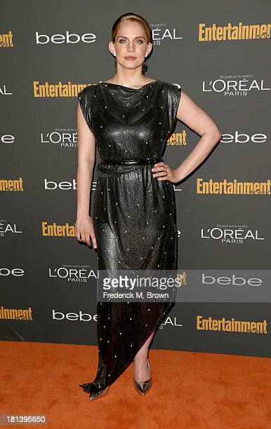 Actress Anna Chlumsky arrives at Entertainment Weekly's Pre-Emmy Party at Fig & Olive Melrose Place on September 20, 2013 in West Hollywood,...