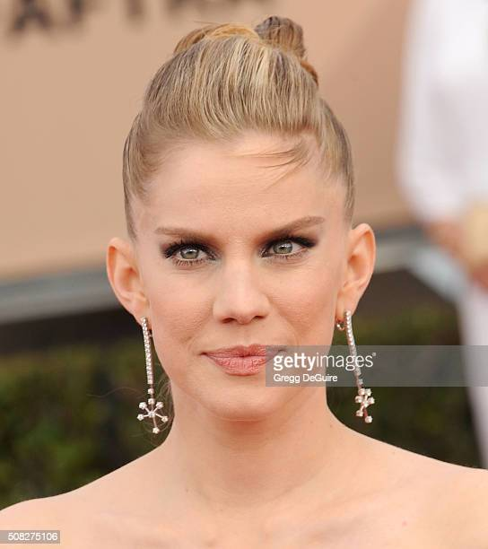 Actress Anna Chlumsky arrives at the 22nd Annual Screen Actors Guild Awards at The Shrine Auditorium on January 30 2016 in Los Angeles California