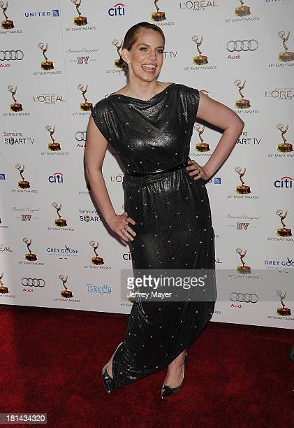 Actress Anna Chlumsky arrives at the 65th Emmy Awards Performers Nominee Reception at Spectra by Wolfgang Puck at the Pacific Design Center on...