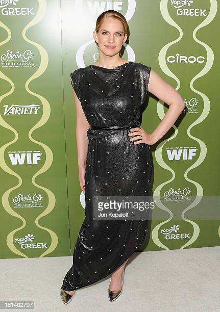 Actress Anna Chlumsky arrives at the Variety And Women In Film Pre-Emmy Party at Scarpetta on September 20, 2013 in Beverly Hills, California.