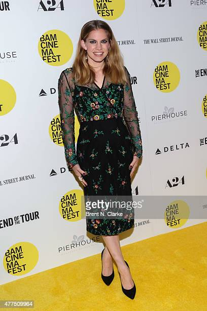 Actress Anna Chlumsky arrives for the BAMcinemaFest 2015 The End Of Tour opening night screening held at BAM Howard Gilman Opera House on June 17...