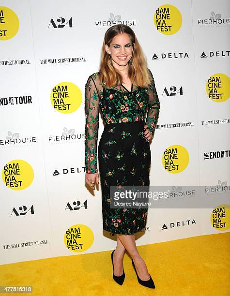 Actress Anna Chlumsky attends BAMcinemaFest 2015 The End Of Tour opening night screening at BAM Howard Gilman Opera House on June 17 2015 in New York...