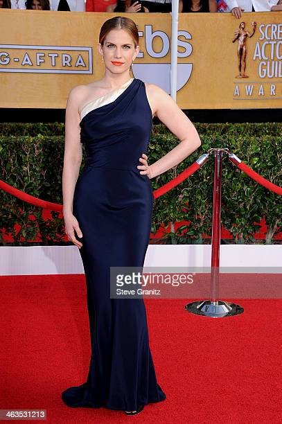 Actress Anna Chlumsky attends the 20th Annual Screen Actors Guild Awards at The Shrine Auditorium on January 18, 2014 in Los Angeles, California.
