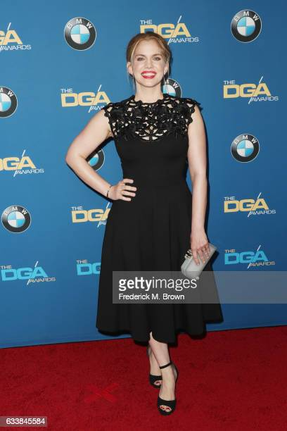 Actress Anna Chlumsky attends the 69th Annual Directors Guild of America Awards at The Beverly Hilton Hotel on February 4 2017 in Beverly Hills...