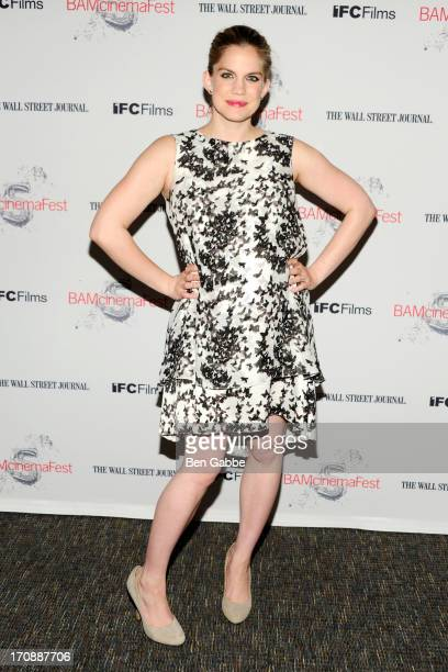 """Actress Anna Chlumsky attends the BAMcinemaFest 2013 and The Cinema Society opening night premiere of """"Ain't Them Bodies Saints"""" at BAM Harvey..."""