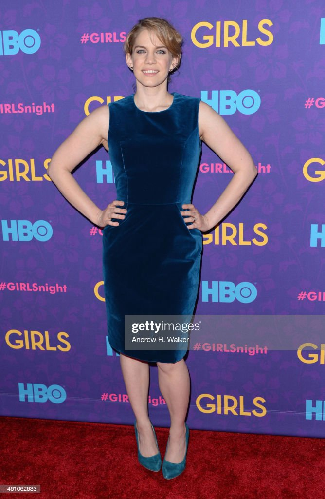 Actress Anna Chlumsky attends the 'Girls' season three premiere at Jazz at Lincoln Center on January 6, 2014 in New York City.