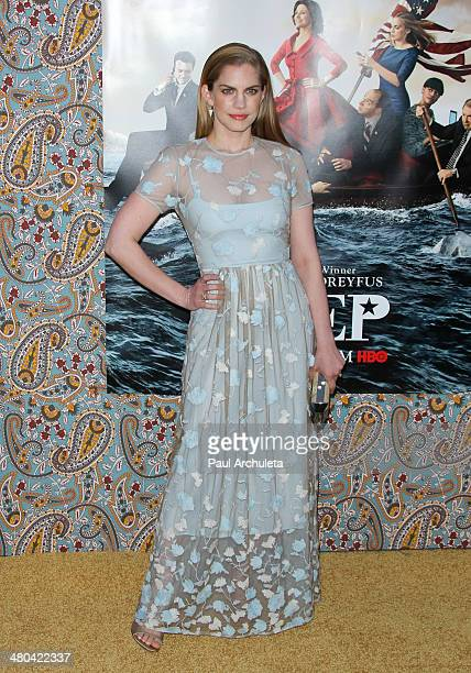Actress Anna Chlumsky attends the premiere of HBO's 'Veep' season three at Paramount Studios on March 24 2014 in Hollywood California