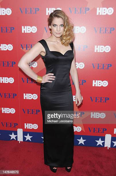 Actress Anna Chlumsky attends the Veep screening at the Time Warner Screening Room on April 10 2012 in New York City