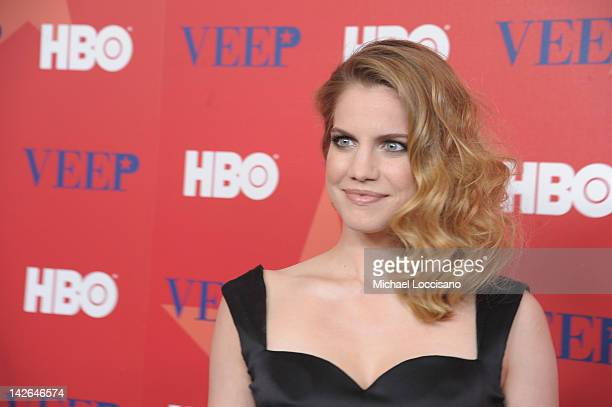 Actress Anna Chlumsky attends the 'Veep' screening at the Time Warner Screening Room on April 10 2012 in New York City