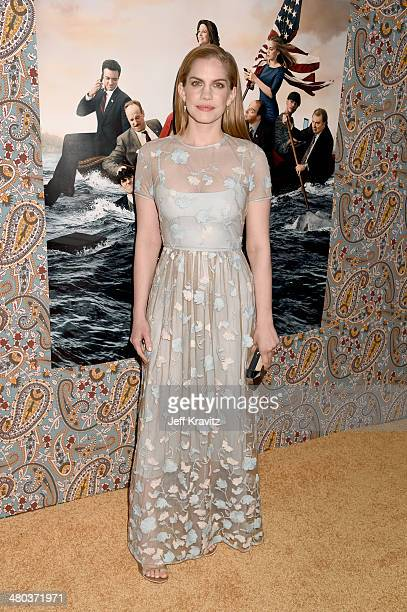 Actress Anna Chlumsky attends the 'VEEP' season 3 premiere at Paramount Studios on March 24 2014 in Hollywood California