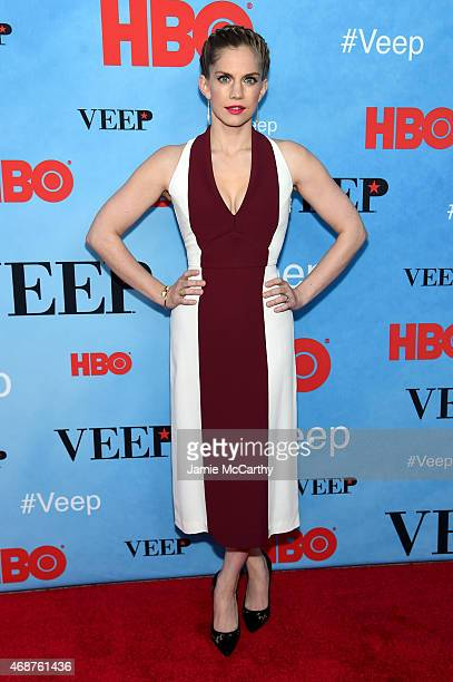 "Actress Anna Chlumsky attends the ""VEEP"" Season 4 New York Screening at the SVA Theater on April 6, 2015 in New York City."