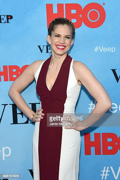 Actress Anna Chlumsky attends the VEEP Season 4 New York Screening at the SVA Theater on April 6 2015 in New York City