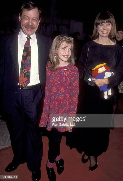 Actress Anna Chlumsky father Frank Chlumsky and mother Nancy Chlumsky attend the My Girl Century City Premiere on November 3 1991 at Cineplex Odeon...