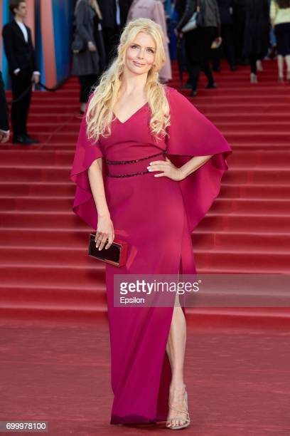 Actress Anna Churina attends opening of the 39th Moscow International Film Festival outside the Karo 11 Oktyabr Cinema on June 22 2017 in Moscow...