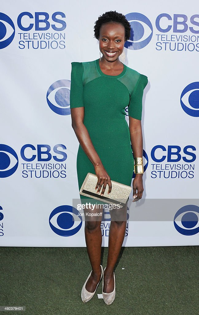 Actress Anna Diop arrives at the CBS Summer Soiree at The London West Hollywood on May 19, 2014 in West Hollywood, California.