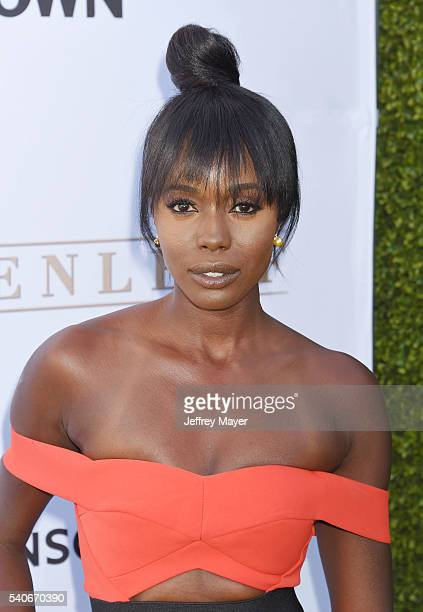 Actress Anna Diop arrives at the premiere of OWN's 'Greenleaf' at The Lot on June 15 2016 in West Hollywood California