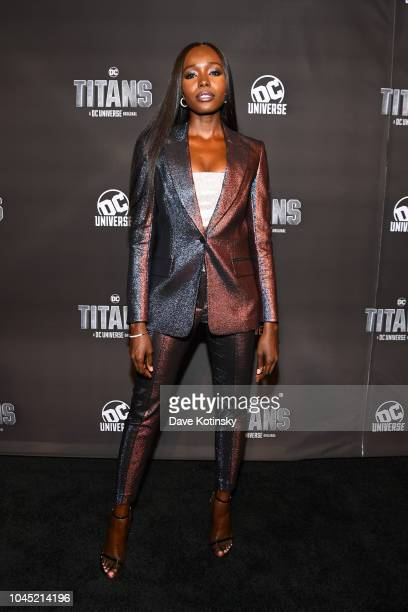 Actress Anna Diop attends DC UNIVERSE's Titans World Premiere on October 3 2018 in New York City